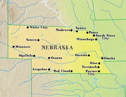Nebraska Map With Cities And Towns