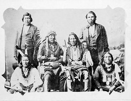 Standing Bear, seated third from right, and supporters