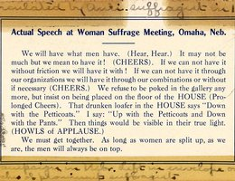 Anti-suffragettes circulated this card in 1914 as a warning of how demoralizing the vote for women would become