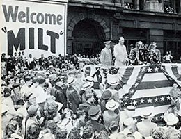 Homecoming for the 134th in Omaha, June, 1945