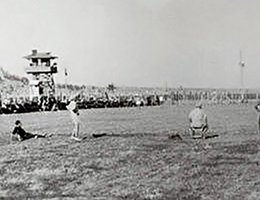POW soccer game at Fort Robinson, 1944