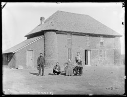 Isadore Haumont's two-story sod house on French Table north of Broken Bow, Custer County, Nebraska, 1886